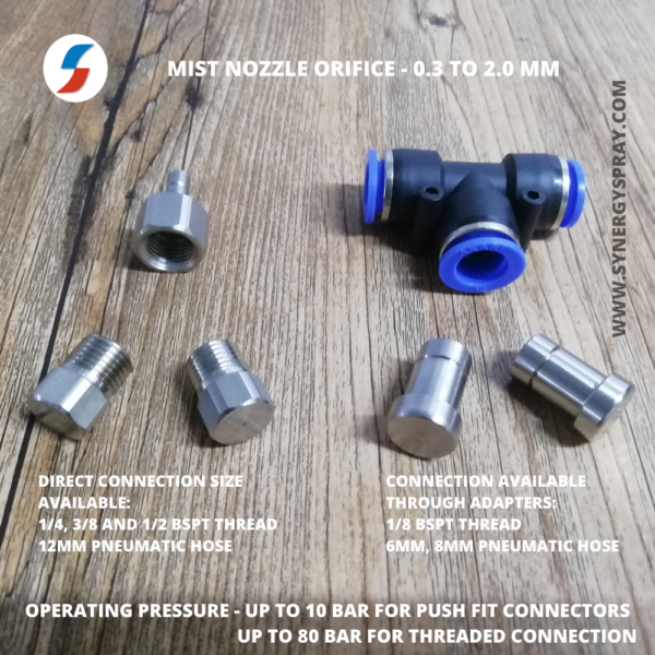 Mist Nozzle with push fit connector manufacturer in india