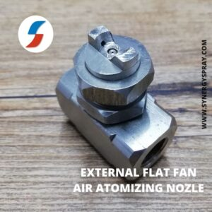 Flat fan external air atomizing nozzle india manufacturer chennai