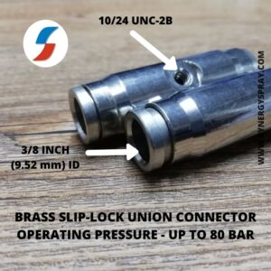 10mm slip lock connector for high pressure mist nozzle